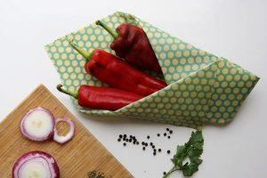 Comida envuelta en envoltorio ecológico y natural alpispa