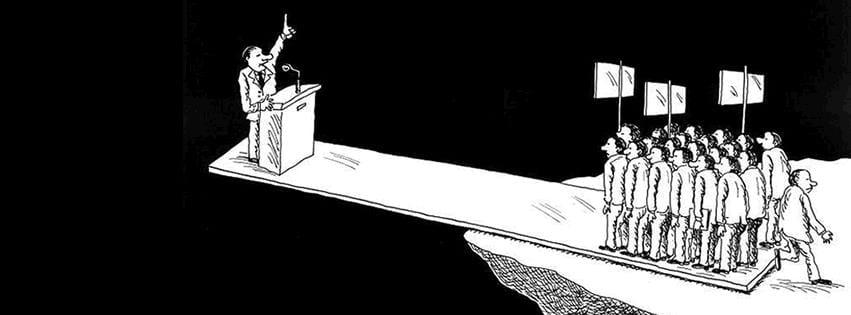 político al borde del abismo