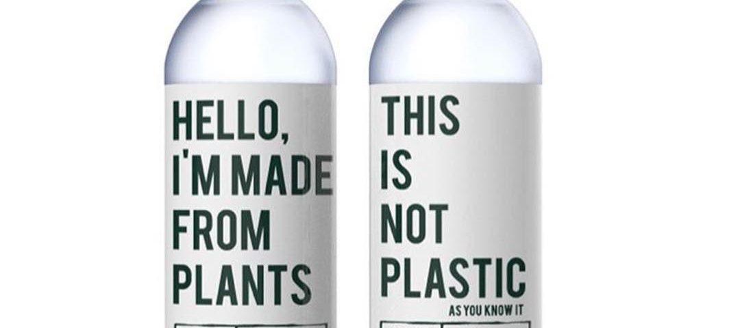 Botellas de plástico degradable